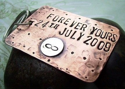 Forever Yours ~ personalized and custom engraved/stamped.  Bridal Party gifts anyone? $19.50