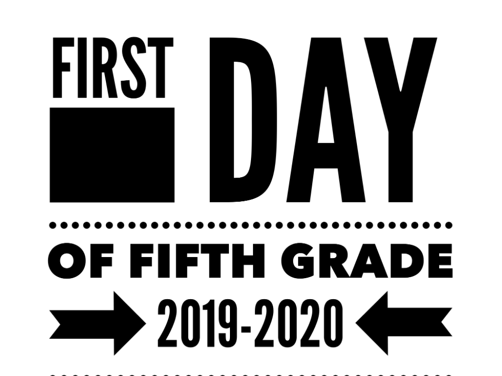 First Day of School Printables Fifth Grade 2019-2020 | For ...