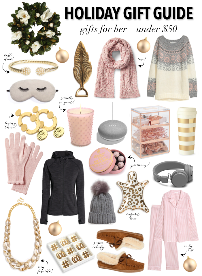 Holiday Gift Guide Gifts for Her Under 50 Holiday