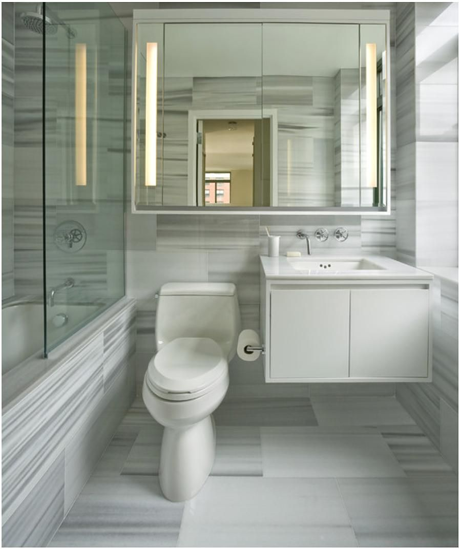 Medicine cabinet with side lighting - Medicine Cab Spans Toilet Too Giving Illusion Of More Space Lighting In Cabinet Is