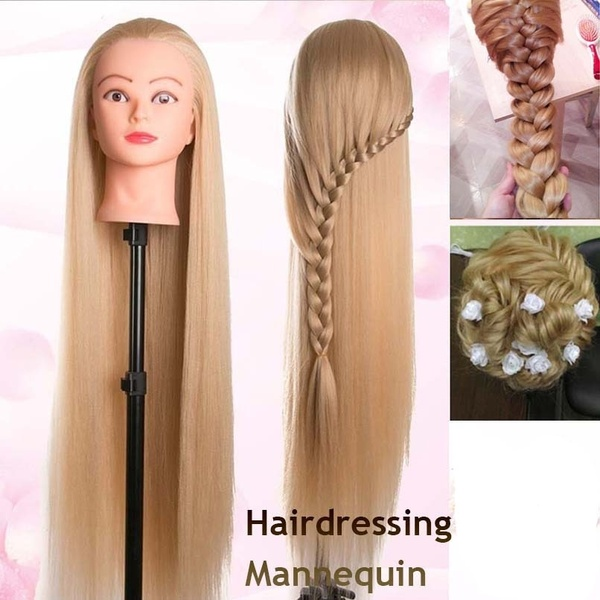 New Style 1 Pc Ladies Synthetic Hair Styles Hair Mannequin Head Doll Hair Dressing Hair Dressing Wish Doll Hair Hair Mannequin Synthetic Hair