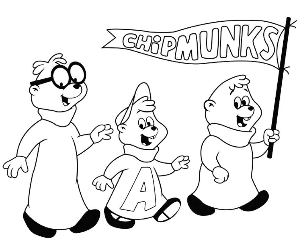 Alvin og de frække jordegern Tegninger til Farvelægning. Printbare ...