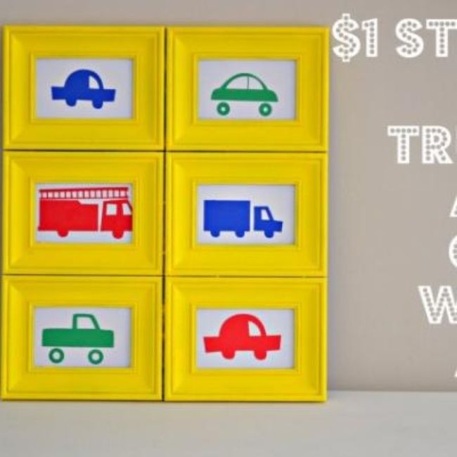 Dollar Store DIY Boys Room Wall Art {Wall Art} | Kids stuff DIY ...