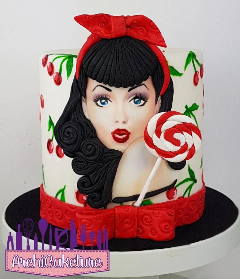 Prime Pinup Cake By Archicaketure Italia Painted Cakes Girly Cakes Funny Birthday Cards Online Sheoxdamsfinfo