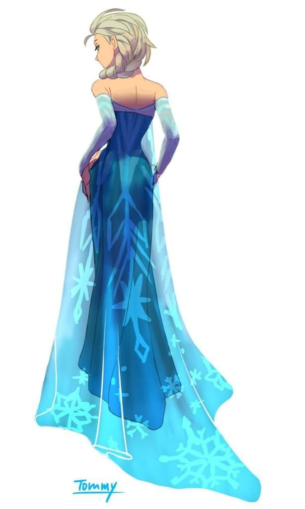 Princesse elsa la reine des neige disney walt - Robe reine des glaces ...