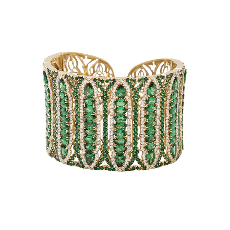 WENDY YUE Tsavorite Garnet Cuff Bracelet $45,410