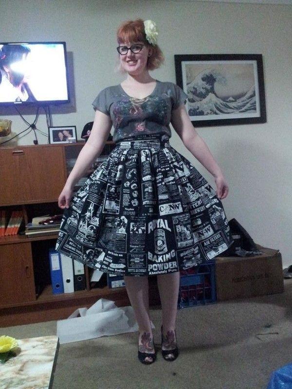 Simple Gathered Rockabilly Retro Skirt | Nähen