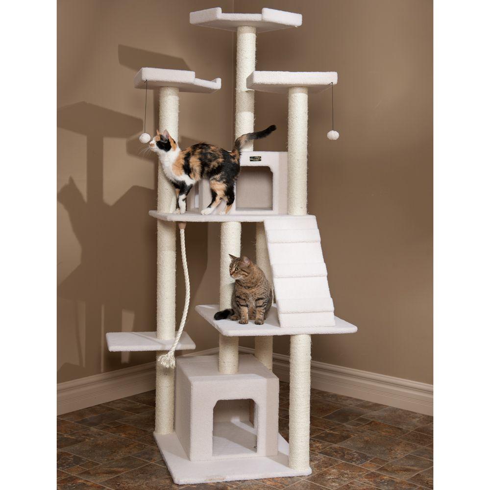 Others › Unique Cat Tree Design Ideas › Attractive White Cat Tree #