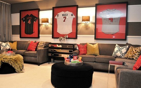 The Way to Design a Comfortable and Sports Themed living Room ...
