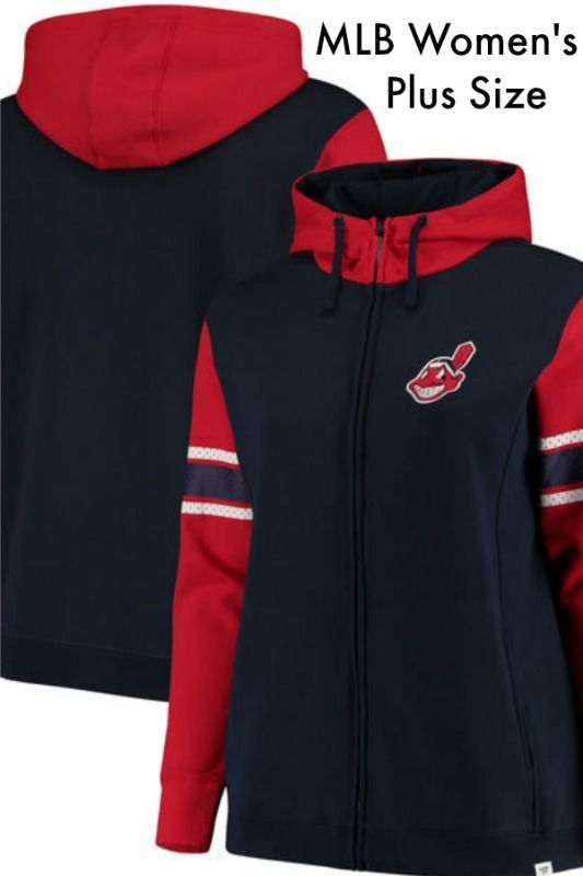 competitive price 32621 77116 Women's Cleveland Indians Fanatics Branded Navy Plus Size ...
