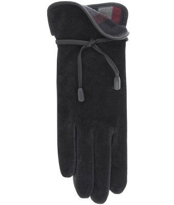 2e83803dd Ladies 'Lasso' Suede Leather Gloves with Plaid Fleece Lining By Grandoe  $59.95