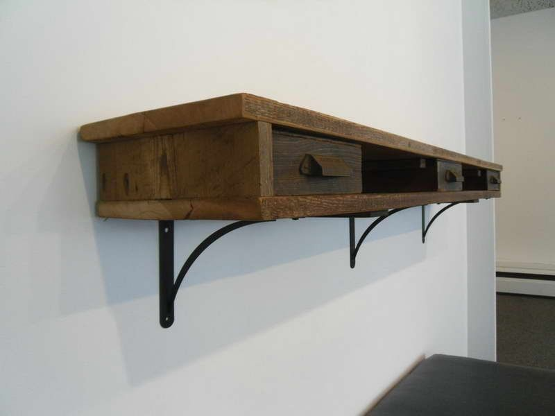 Industrial Shelving Brackets With Drawer Design Drawer