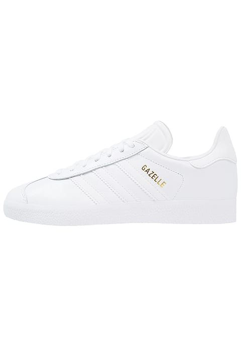 Adidas Originali Gazzella Tengo E 'Ó Wki Mi Trampki Bianco / Oro Metallico.