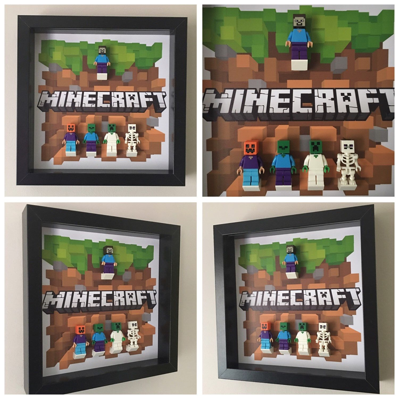 Minecraft Minifigure Frame Now Added Minecraft Gifts