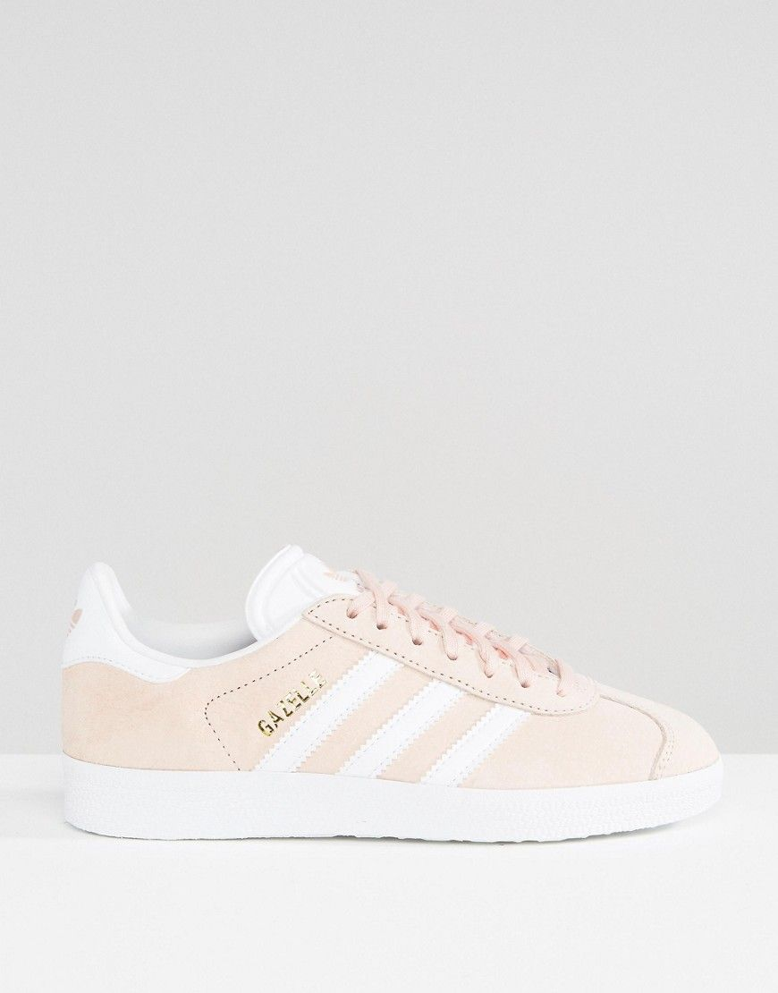 Image 2 of adidas Originals Pink Suede Gazelle Sneakers