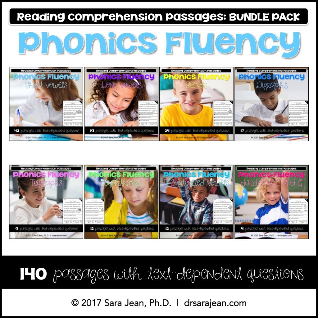 Phonics Fluency Passages Reading Comprehension Worksheets