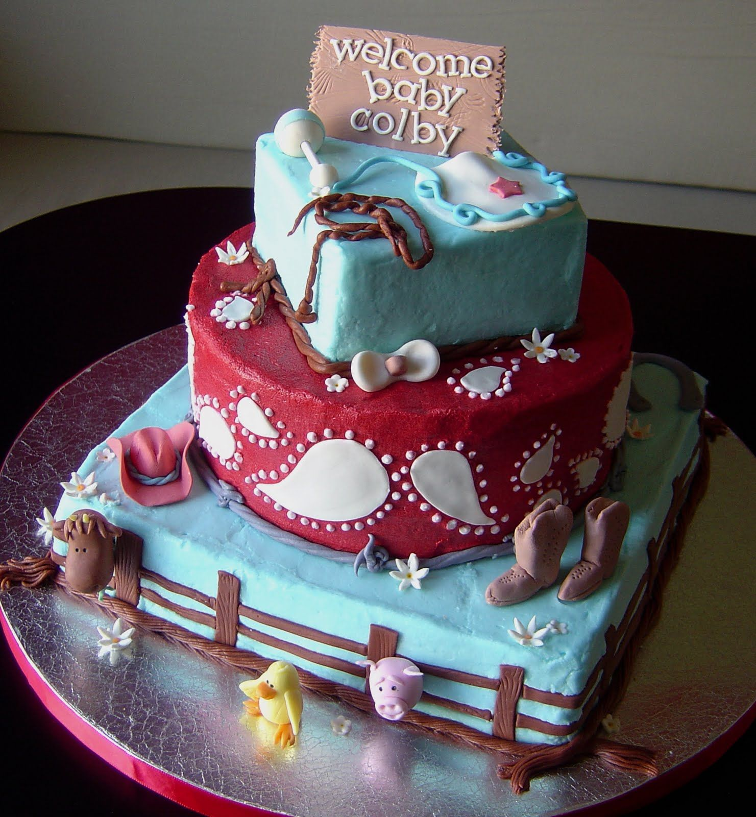 Charming Crazy For Design: Western Baby Shower Cake