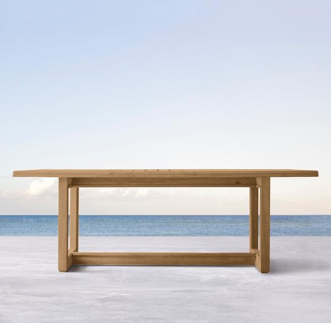 Costa Teak Rectangular Dining Table Dining Table Teak Dining