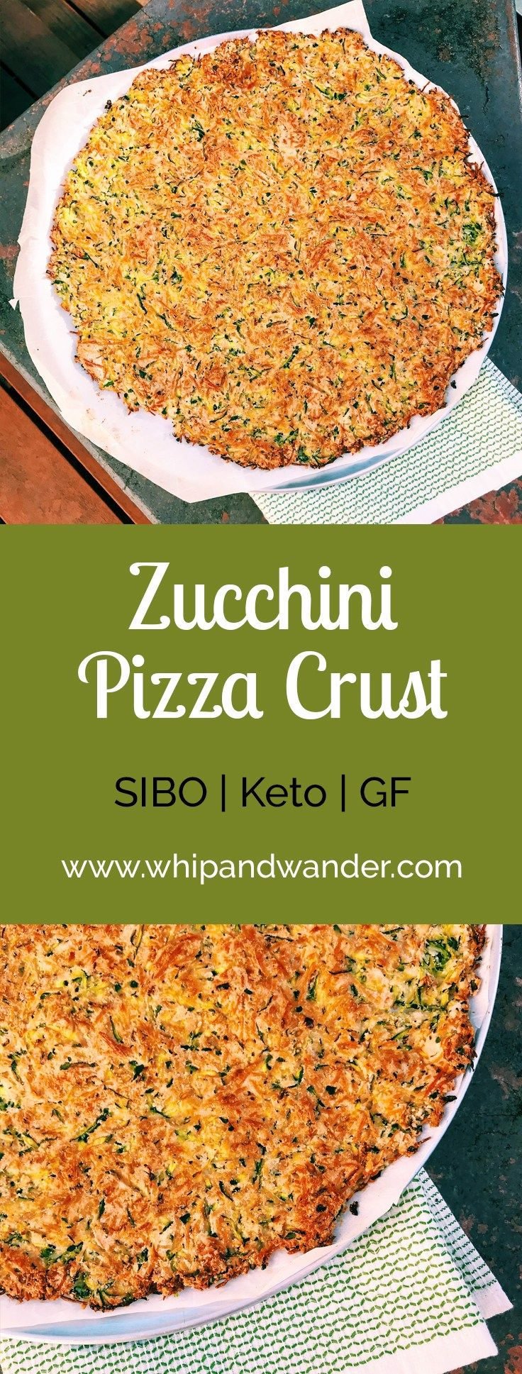 Zucchini Pizza Crust - Whip & Wander
