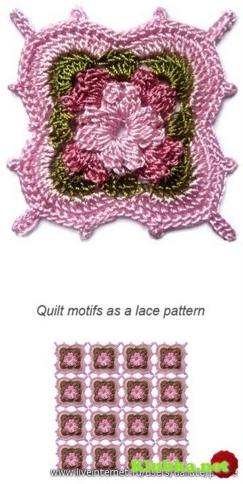 Many gorgeous Crochet Motifs with charts!!!! | Crochet Squares ...