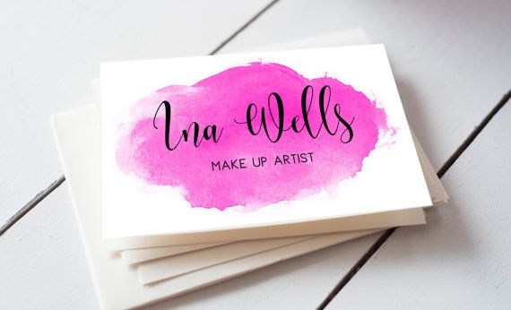 Pink watercolour modern calligraphy custom business by iloladesign