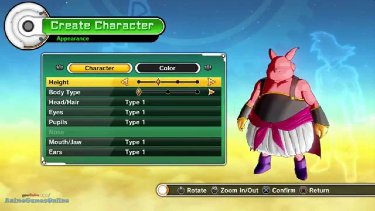 Dragon Ball Xenoverse Majin Character Creation Character