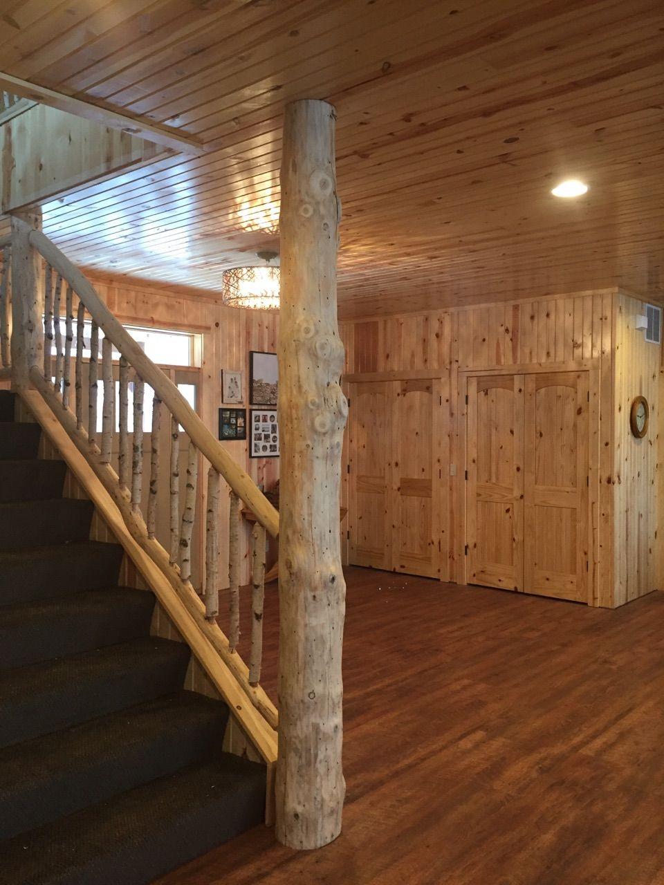 Best Birch And Pine Railing Birch Railing Log Cabin Railing 400 x 300