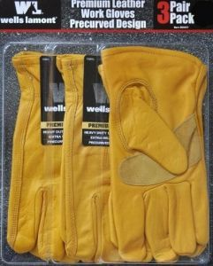 Wells Lamont Premium leather Gloves  3 Pack