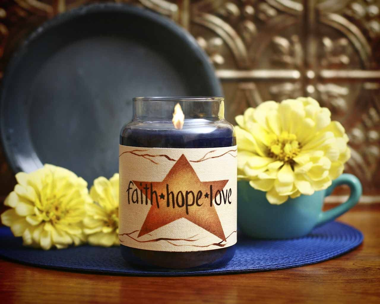 Large Star, Faith, Hope, Love Candle Wrap #4   www.thisilldocreations.com