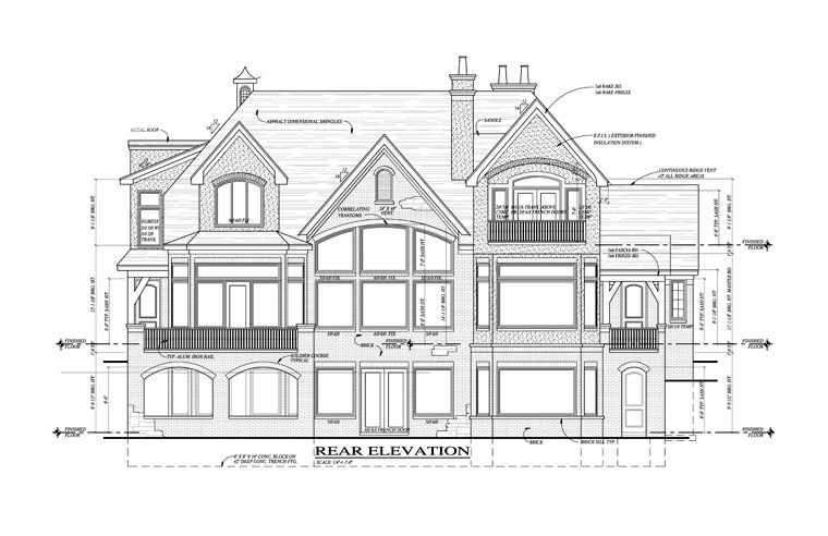 European French Country Tudor House Plan 42820 Rear Elevation ... on american saltbox house, green craftsman style house, prairie style house, american tudor interior, american cottage homes, american four square house, american tudor inn, american style homes in england, spanish style house, american tudor cottage,