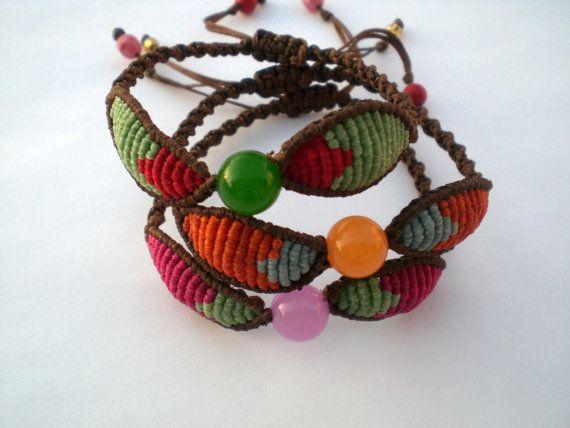 Bracelets macrame. Bracelets adjustable. Bracelets by asmina, $12.00