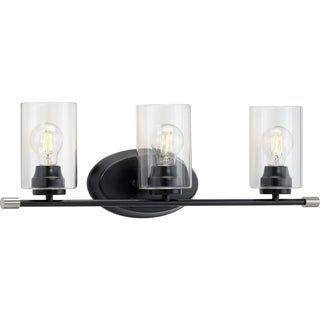 Photo of Riley Collection Black Three-Light Bath (60 W – 3 Lights), Progress Lighting