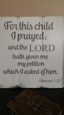 Congratulations On The New Little Addition To Your Family This Verse From Samuel 1 27 Kjv Is A Wonderful Messa Adoption Signs Adoption Gifts Foster Mom Gift