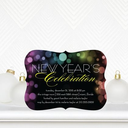 Luminous Night - Flat Holiday Party Invitations - Sarah Hawkins - holiday party invitation