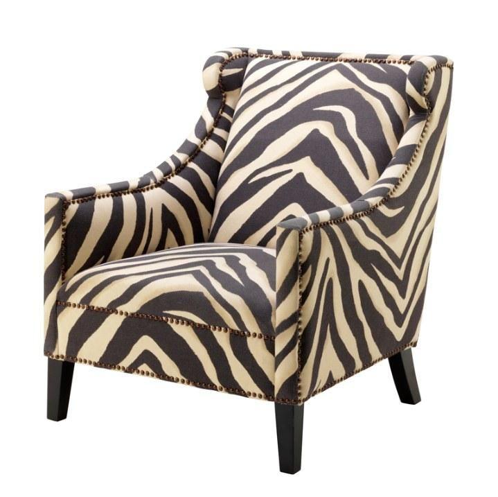 zebra print slipper chair  eichholtz jenner in 2020