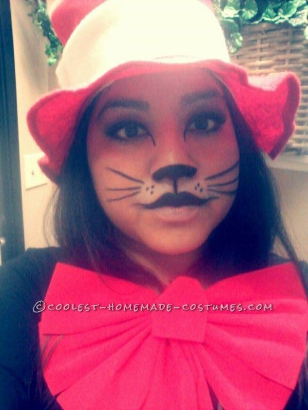 womans cat in the hat costume with pet dogs thing 1 thing 2 - Cat In The Hat Halloween Costume Ideas