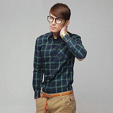 Mens' Check Long Sleeve Shirt