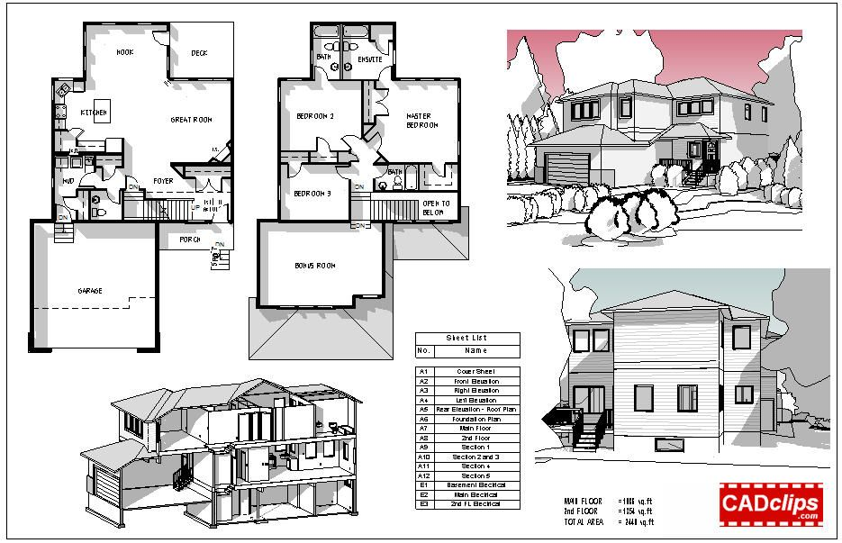 Revit rocks cool revit presentation plans 3d model for Revit architecture modern house design