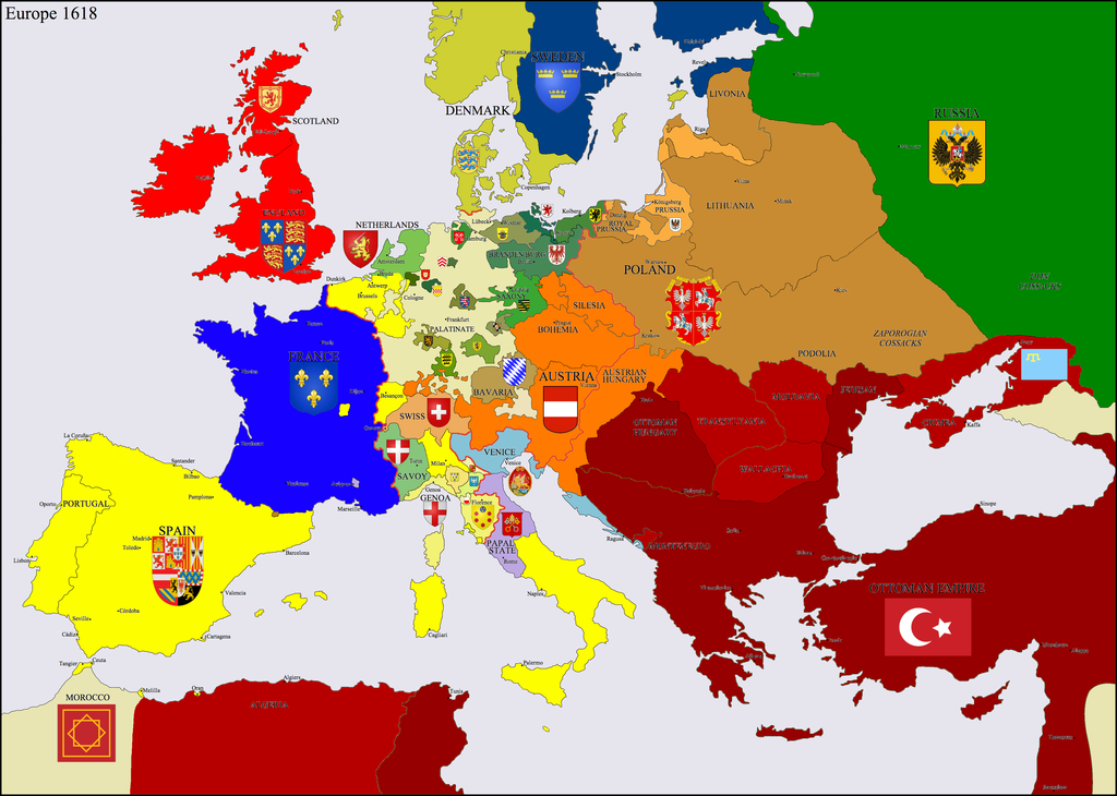 As the second decade of the 17th century approached its end Europe, in general, was at peace. There was a truce between the Provinces and the Spain's that was good until 1621. England and the Spanish had made peace in 1604. Spanish domination of the Italian states kept the peace there. The Empire was quiet and France was enjoying peace after its civil wars.