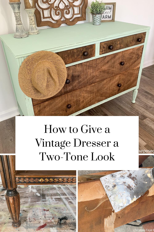 Free Vintage Dresser Makeover Christina Faye Repurposed In 2020 Vintage Dresser Makeover Vintage Dressers Dresser Makeover