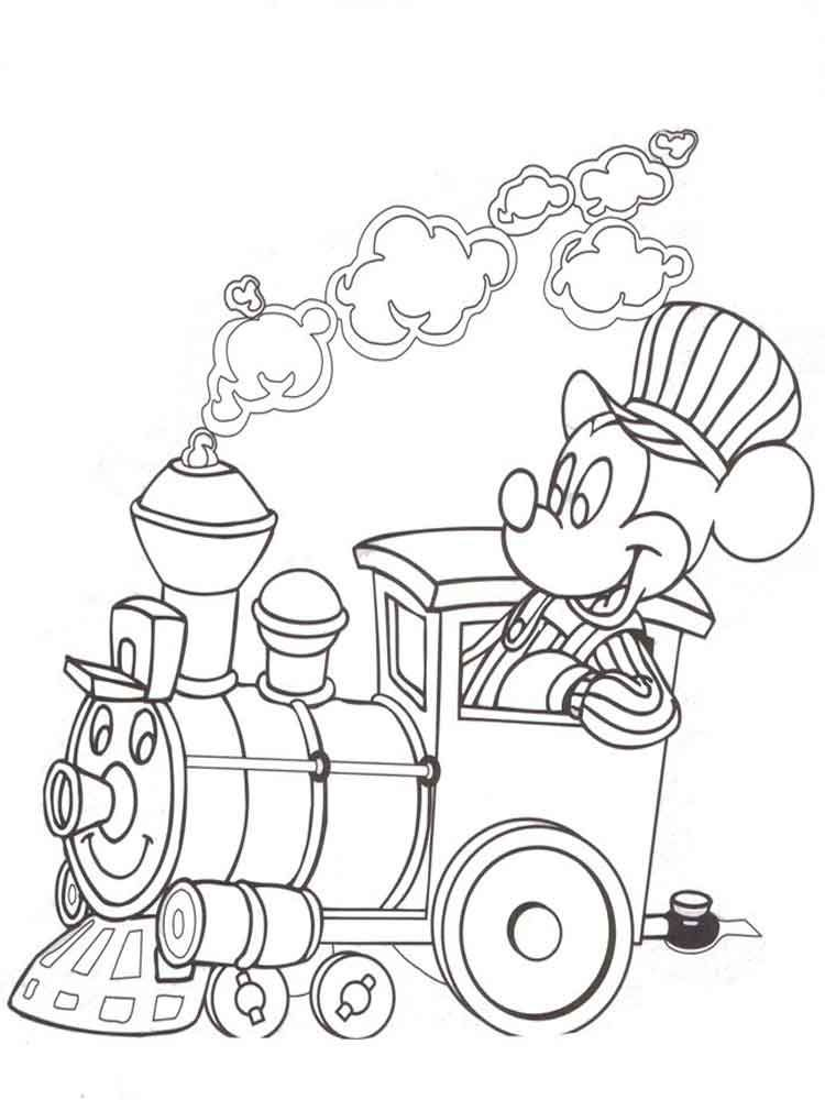 Train Conductor Mickey Coloring Page Mickey Coloring Pages Fall