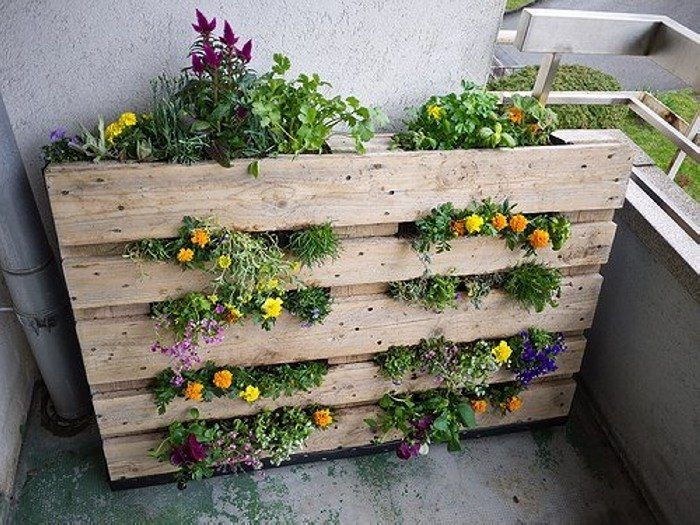 Cosas que puedes hacer con un palet reciclado jard n for Jardin colgante palet