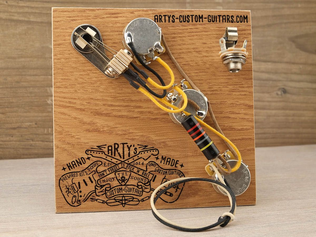 guitar wiring harness flying v 1958 bumble bee artys custom guitars com [ 1200 x 900 Pixel ]