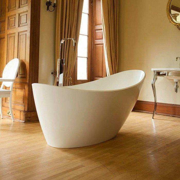 badewanne weiß braun gold als hintergrund Badezimmer Ideen