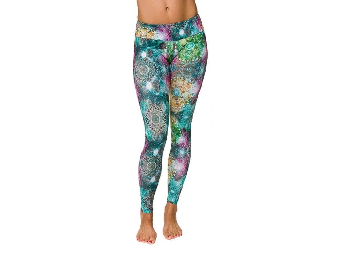 881fa1fa56 Roozt - Onzie - Space Jewels Long Yoga Legging Yoga Leggings, Namaste