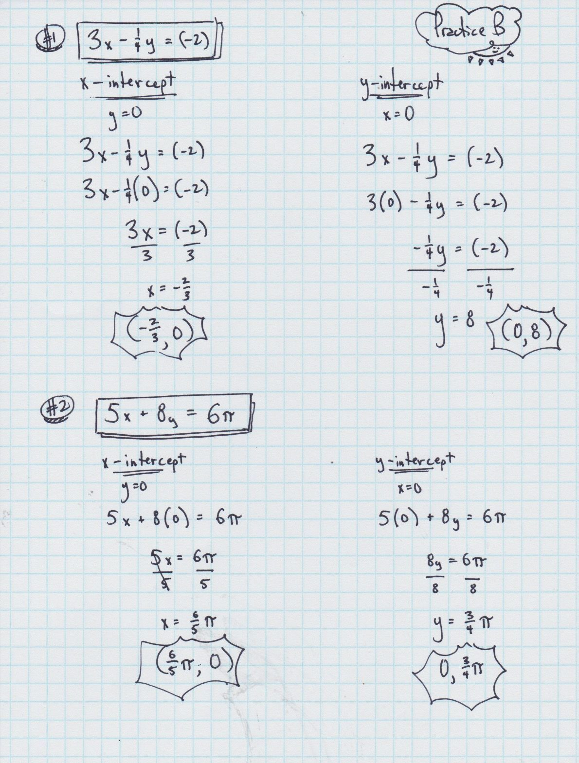 Algebra 1 Slope Intercept Form Worksheet 1 Answer Key In