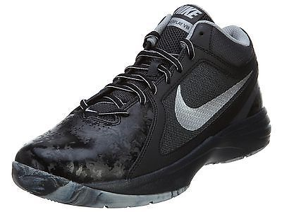 Nike The Overplay VIII Mens 637382015 Black Silver Basketball Shoes Size  75