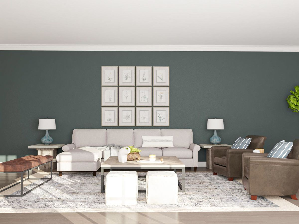 This Long Rectangular Living Room Features A Refined Layout With Traditional Appeal And Ample Seating It S An Open Beaut