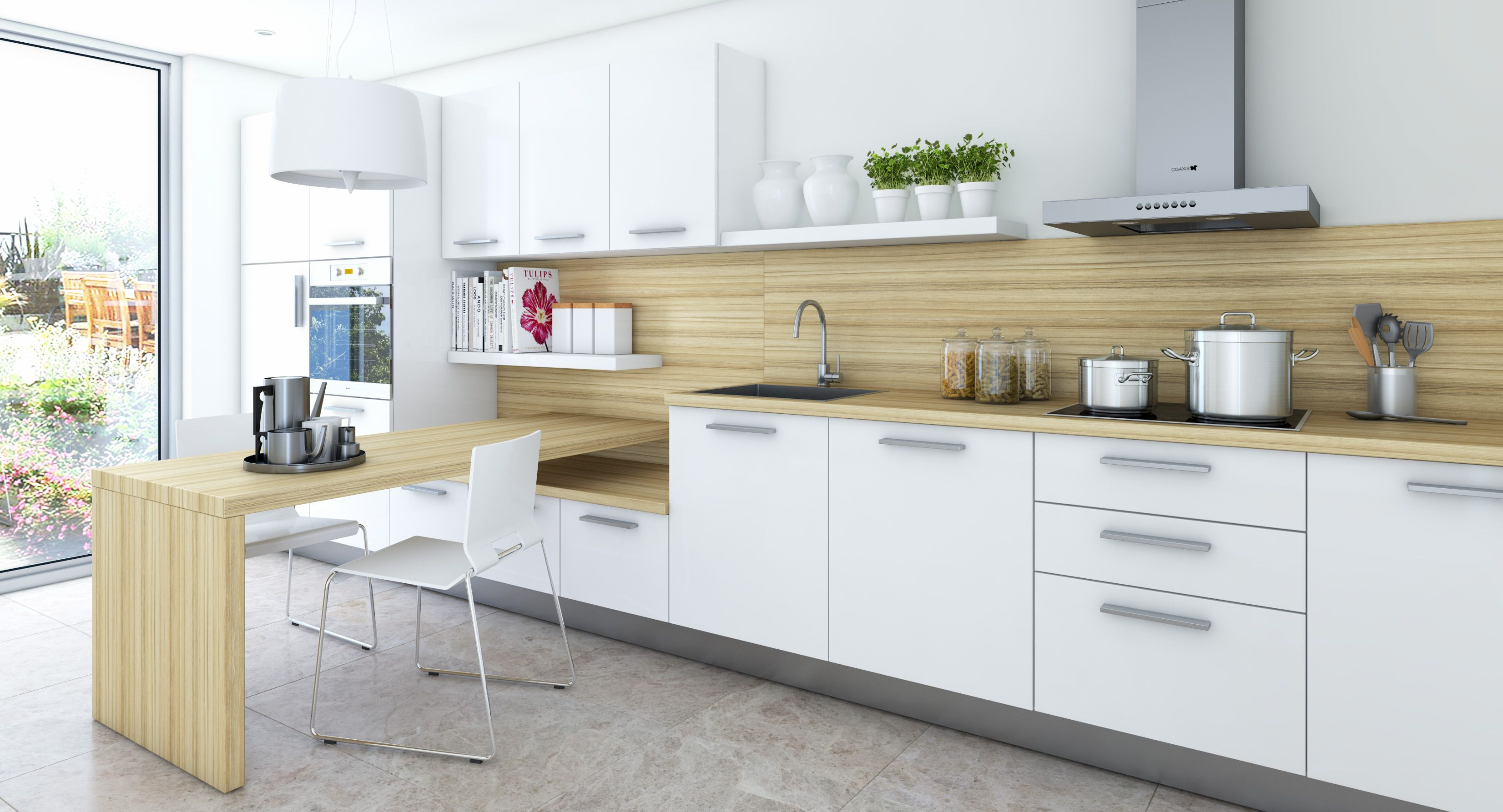 Marvelous Pin By Amy Zhang On For The Home Contemporary Kitchen Download Free Architecture Designs Osuribritishbridgeorg