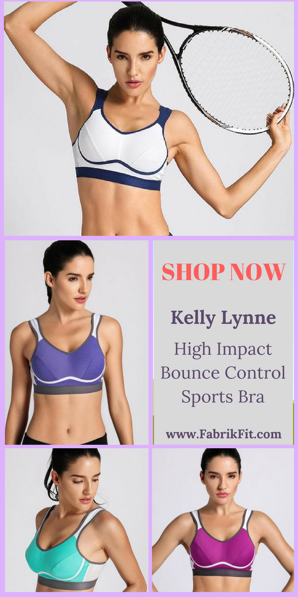 72f7ad48cb Kelly Lynne High Impact Bounce Control Plus Size Sports Bra with full cup